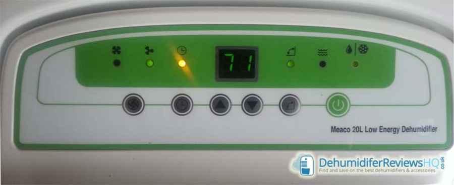 meaco-20l-control-panel